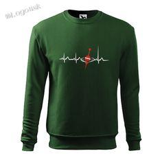 Výroba potisku na mikinu EKG křivka splávek Sweatshirts, Sweaters, Fashion, Moda, Fashion Styles, Trainers, Sweater, Sweatshirt, Fashion Illustrations