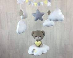 Baby mobile fox mobile cloud baby collection by littleHooters