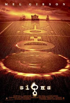 Signs - Directed by M. With Mel Gibson, Joaquin Phoenix, Rory Culkin, Abigail Breslin. A family living on a farm finds mysterious crop circles in their fields which suggests something more frightening to come. All Movies, Sci Fi Movies, Scary Movies, Great Movies, Movies Online, All Horror Movies, Amazing Movies, Bon Film, Movie Posters