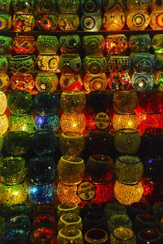 Picking your favourite design for Turkish lights at the Grand Bazaar is harder than it seems Istanbul, Turkey