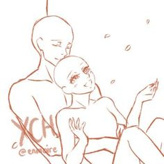 couple ych closed by SweetLunar on DeviantArt Couple Poses Reference, Drawing Reference Poses, Ship Drawing, Drawing Base, Poses References, Anime Drawings Sketches, Art Base, Drawing Techniques, Character Drawing