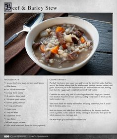 Thick and hearty, this is the kind of  stew that will stick to your ribs. More Recipes: http://itsh.bo/LQC1sC #gameofthrones #food