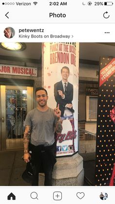 BRB IM CRYINF <<just take a look at this proud father standing in front of a poster of his son on Broadway oh wow