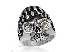 Crystal Stainless Steel Men's Ring $28.50
