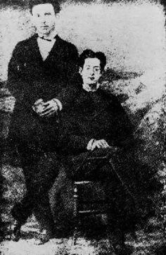 Retrato junto a Fermín Valdés Domínguez. Retrato probablemente de 1869, tomado en La Habana junto a Fermín Valdés Domínguez.