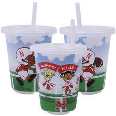 Super cute tailgate cups for the kids! Nebraska Cornhuskers 3-Pack 10oz. Sip n' Go Plastic Cups #UltimateTailgate #Fanatics
