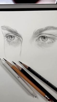 Sketching eyes by Nadia Coolrista - realistic drawings Art Drawings Sketches Simple, Pencil Art Drawings, Realistic Drawings, Drawing Faces, Eye Pencil Sketch, Face Pencil Drawing, Eye Sketch, Drawing Drawing, Eye Drawing Tutorials