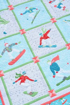 Aurifil 2017 December Designer of the Month Amanda Murphy – AURIbuzz Antique Quilts, Vintage Quilts, Quilting Projects, Quilting Designs, Quilting Ideas, Machine Quilting, Machine Embroidery, Quilt Patterns, Stitch Patterns