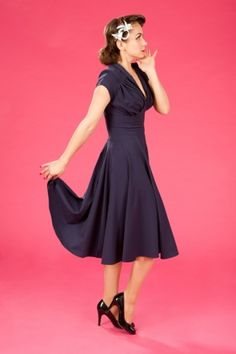 Miss Candyfloss - 50s Odette blue swing dress- I LOVE THIS!!!!!!!!!!!!!!!!!