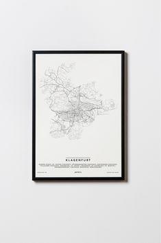 Klagenfurt, Illustration, The Originals, Frame, Design, Poster, Home Decor, Self, Glass Panels