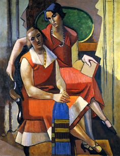 L'HOTE, Andre - French artist (1885-1962) - 'Two Friends'