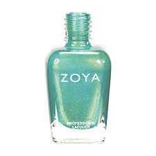 Zoya Nail Polish in Zuza can be best described as: Deep, saturated, oceanic turquoise with gold and silver metallic shimmer and a foil-like finish. A beachy, colorful, foil-like shade with the perfect balance between blue and green.  Family - Blue, Green  Finish - Foil  Intensity - 5 ( 1 = Sheer - 5 = Opaque )  Tone - Cool