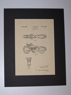Courtney Motorcycle 1941 Patent Drawing