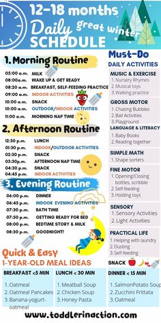 Make your life easier this winter with this simple STAY-AT-HOME daily toddler schedule MONTHS! Give your day some good structure, so you don't w Activities For 1 Year Olds, Toddler Learning Activities, Baby Learning, Infant Activities, Daily Activities, Indoor Activities, Day Care Activities, Activity Days, Summer Activities