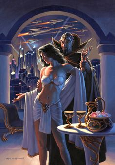Ming and Dale Arden - Painting, Greg Hildebrandt