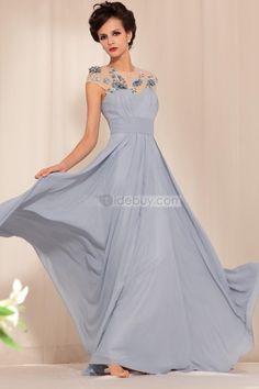 Luxurious Round Collar Floor-length Evening Party Dress : Tidebuy.com