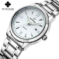 Luxury Men's Sport Watches Auto Date Stainless Steel Back Light Hours Clock Men Casual Quartz Dress Watch Wristwatch