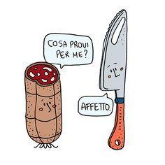 Bff Quotes, Sarcastic Quotes, Funny Cute, Hilarious, Italian Humor, Italian Quotes, Cool Illusions, Arte Disney, Funny Video Memes