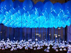 Balloons suspended