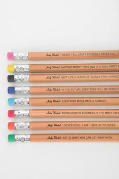 Andy Warhol Philosophy Pencil Pack #urbanoutfitters