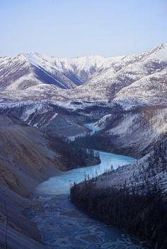 River through Verkoyansk mountains, Yakutia, Siberia, Russia