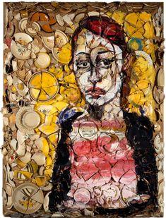 Julian Schnabel » Portrait of Lola.  Art Experience NYC  www.artexperiencenyc.com