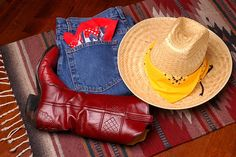 Photo about Western scene - hat & boots on Southwestern motif rug. Image of boots, cowboy, west - 730947 Western Outfits, Western Boots, Jeans And Boots, Cowboy Hats, Westerns, Scene, Clothes, Image, Shopping