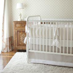 Catalina Seersucker Crib Set for gender neutral nurseries from @annettetatum #PNapproved