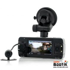 """720p Dual Car Dash Cam with Parking Camera """"Twinview"""" - 2.7 Inch Screen, G Sensor, Motion Detection, HDMI #carparking #carcam #Gsensor"""