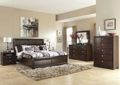 Marxmir King Storage Bed, Dresser, Mirror, Chest
