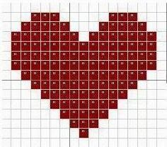 You wanted to expose your heart to the naked. And so, I heard all the love of others. Ah, man . - You wanted to expose your heart to the naked. And so, I heard all the love of others. Heart Quilt Pattern, Quilt Patterns, Knitting Patterns, Crochet Patterns, Cross Stitch Heart, Cross Stitch Flowers, Quilting Projects, Quilting Designs, Cross Stitch Embroidery
