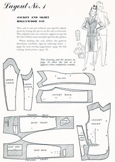 How to make over a mans suit into a woman's (1930s) suit. Love this!