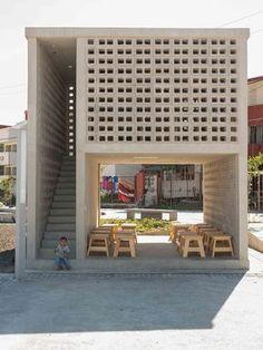 Edifício Público\ México, 2015. Fernanda Canales\ Salas de Leitura