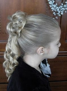 Updos for little girls for weddings how to do little girls shaunells hair how to do little girls hairstyles half bun curly updo video tutorial pmusecretfo Gallery
