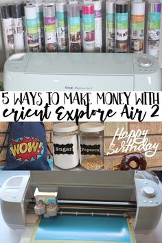 5 Ways to Make Money with Cricut Explore Air 2