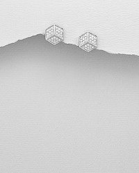 925 sterling silver cubic studs set with cubic zircon