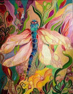 Nikodém Mónika Dragonfly acrylic on canvas