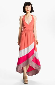 FELICITY & COCO Colorblock High/Low Halter Maxi Dress (Nordstrom Exclusive) available at #Nordstrom
