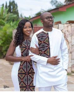Look into the future together Congratulations Mr & Mrs Ngwang ❤️❤️❤️ May your new home be blessed Mua: Dress:… Couples African Outfits, African Wear Dresses, African Fashion Ankara, Latest African Fashion Dresses, African Print Fashion, African Wear Styles For Men, African Attire For Men, African Clothing For Men, African Shirts