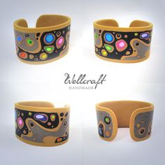 Cuff Picture Tute - Lots of details but embedded so the pics will have to do.  #Polymer #Clay #Tutorial