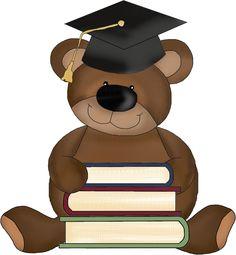 GRADUATE TEDDY BEAR * Graduation Clip Art, Graduation Cards, Drawing Animals, Animal Drawings, Teddy Bear Images, School Clipart, Kindergarten Graduation, Diy Cards, Teddy Bears