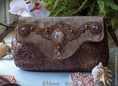 Lunar lights - Лунное сияние - Элегантная сумочка вышитая бисером. Handmade.