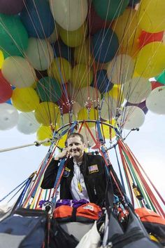 """Jonathan Trappe, 39, might be an IT Manager from North Carolina, but he is also a """"daredevil"""" with a dream of flying across the Atlantic propelled by helium balloons. 
