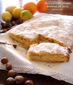 Pastry stuffed with yogurt apple Italian Desserts, Apple Desserts, Apple Recipes, Healthy Desserts, Italian Recipes, Sweet Recipes, Delicious Desserts, Cake Recipes, Dessert Recipes