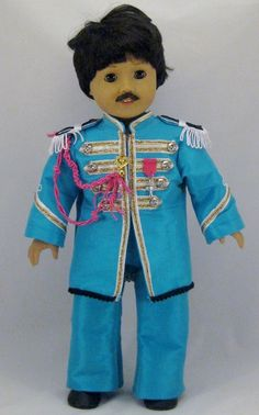 Beatles Paul McCartney Sgt Pepper costume $93... just in case your daughters want to dress their american girls up in sgt pepper costumes?!?!?! lol