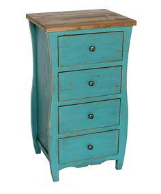 Look at this #zulilyfind! Blue Wood Night Stand #zulilyfinds