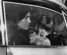 Jackie and John, Jr. leaving the White House