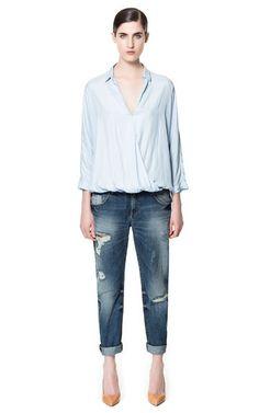 Image 1 of SLIM BOYFRIEND JEANS from Zara