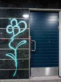 Flower on a doorway