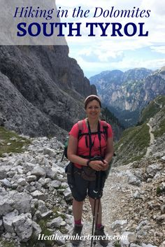 Read about hiking in the Dolomites of South Tyrol - on Day 2 we tackled a steep pass, walked through a lunar landscape and relaxed with a well earned beer as the mountains turned pink. South Tyrol, Backpacking Europe, Hiking Backpack, Bosnia And Herzegovina, Heritage Site, Hiking Trails, Alps, Italy Travel, Trekking
